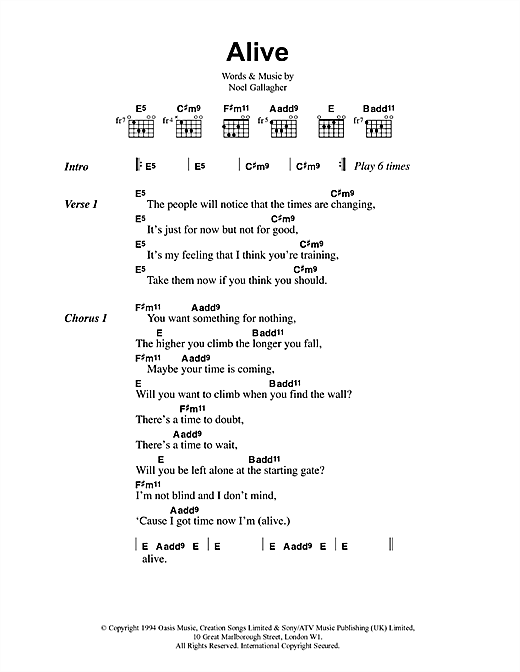 Alive Sheet Music