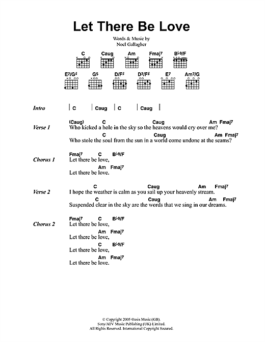 Let There Be Love (Guitar Chords/Lyrics)