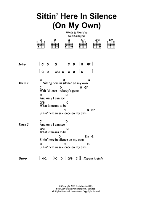 Sittin' Here In Silence (On My Own) Sheet Music