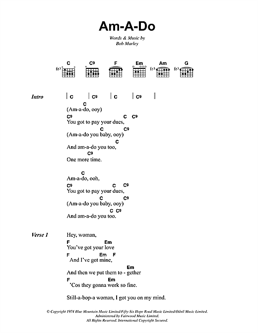 Am-A-Do Sheet Music