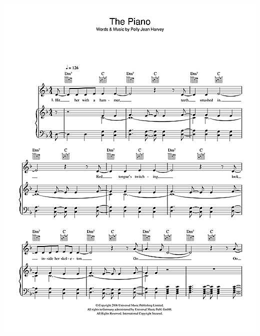 The Piano Sheet Music