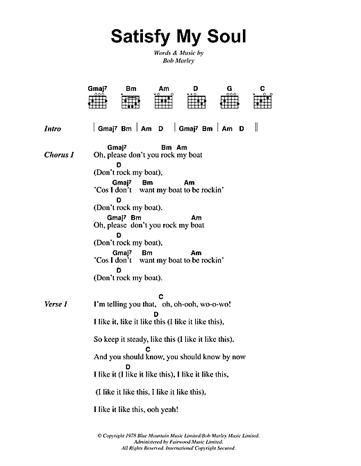 Satisfy My Soul Sheet Music