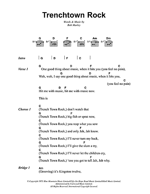 Trenchtown Rock Sheet Music
