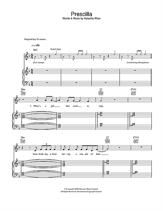Prescilla Sheet Music