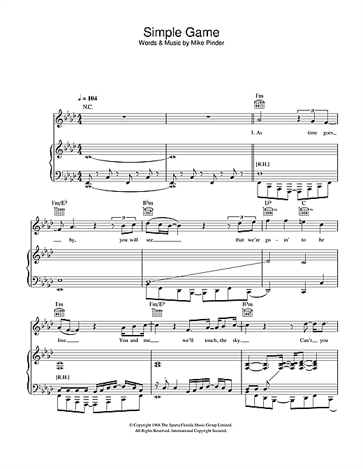 A Simple Game Sheet Music