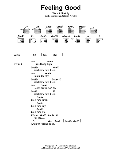 Feeling Good sheet music by Muse (Lyrics & Chords – 42019)