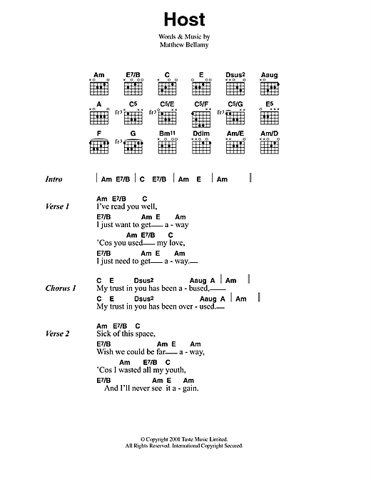 Host Sheet Music