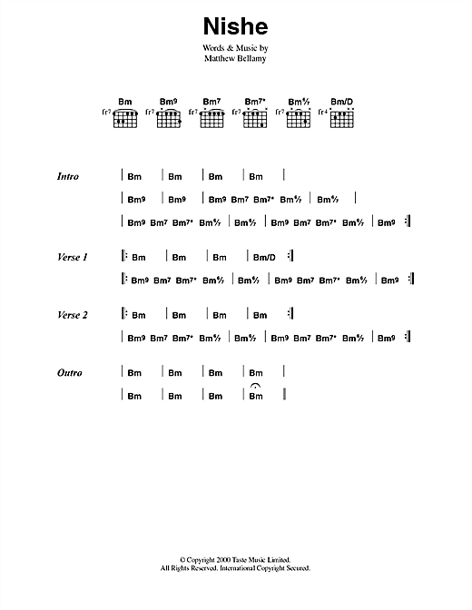 Nishe Sheet Music