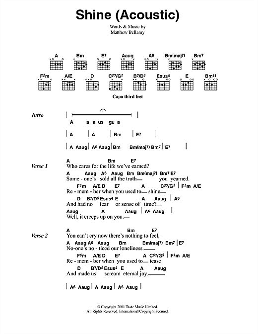 Shine Sheet Music