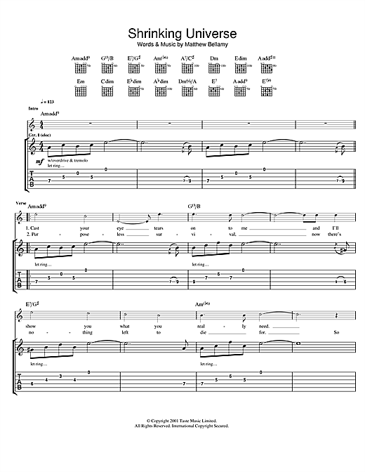 Shrinking Universe Sheet Music