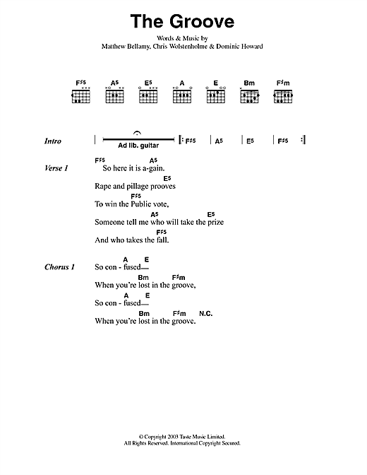 The Groove Sheet Music