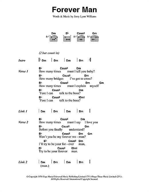 Forever Man Sheet Music