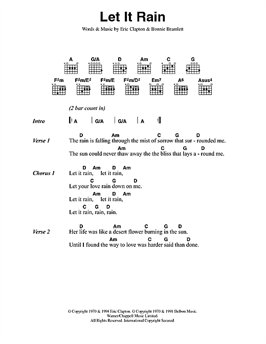 Let It Rain Sheet Music