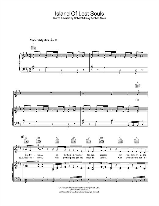 Island Of Lost Souls Sheet Music