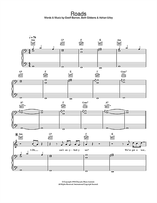 Roads Sheet Music