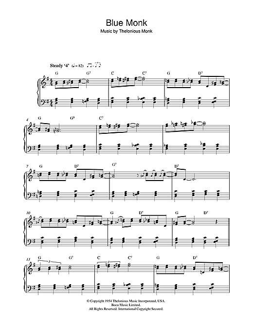 Blue Monk Sheet Music