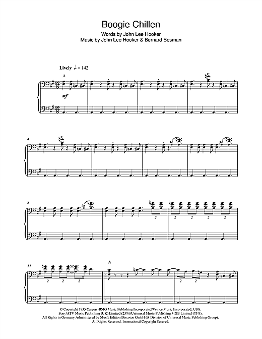 Boogie Chillen Sheet Music