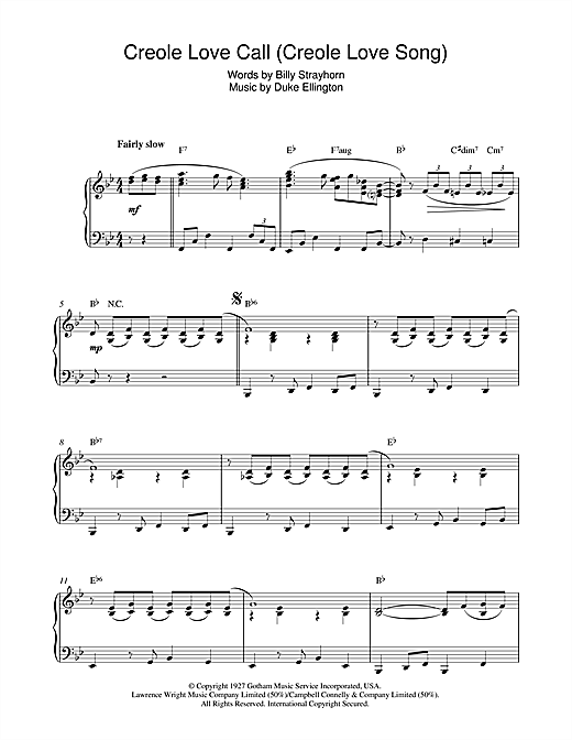 Creole Love Call (Creole Love Song) Sheet Music