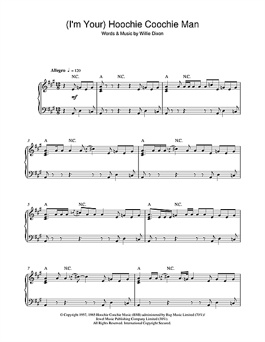 (I'm Your) Hoochie Coochie Man Sheet Music