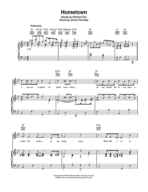 Hometown Sheet Music