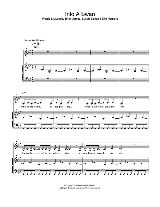 Into A Swan Sheet Music
