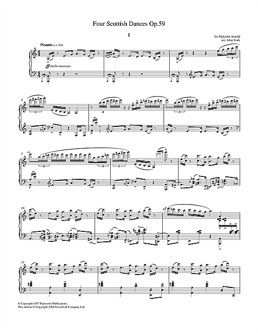 Four Scottish Dances Op.59, No.1, Pesante Sheet Music