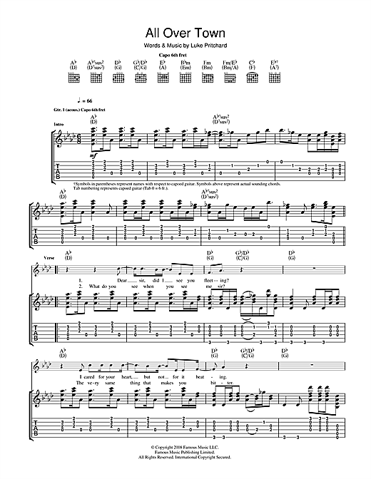 All Over Town Sheet Music