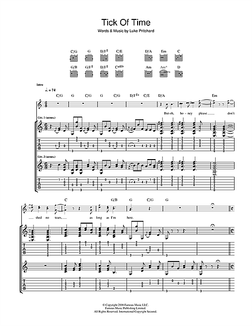 Tick Of Time Sheet Music