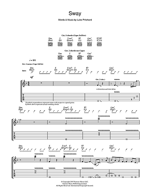 Sway Sheet Music