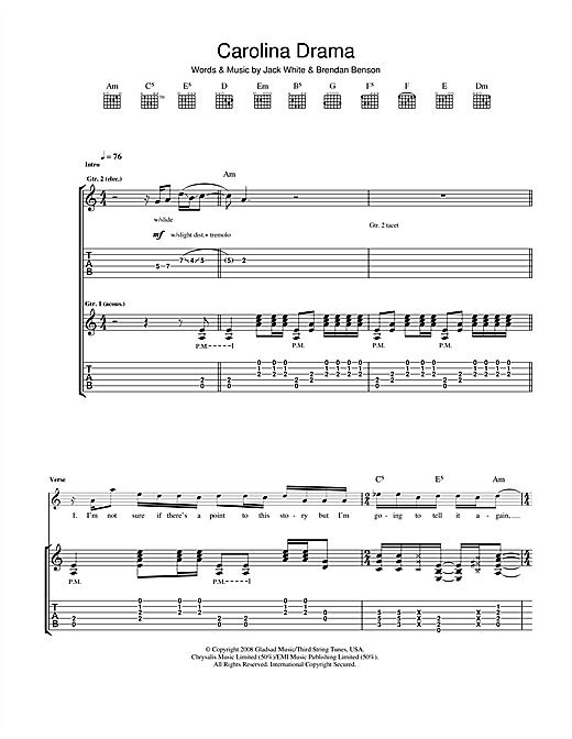 Carolina Drama (Guitar Tab)