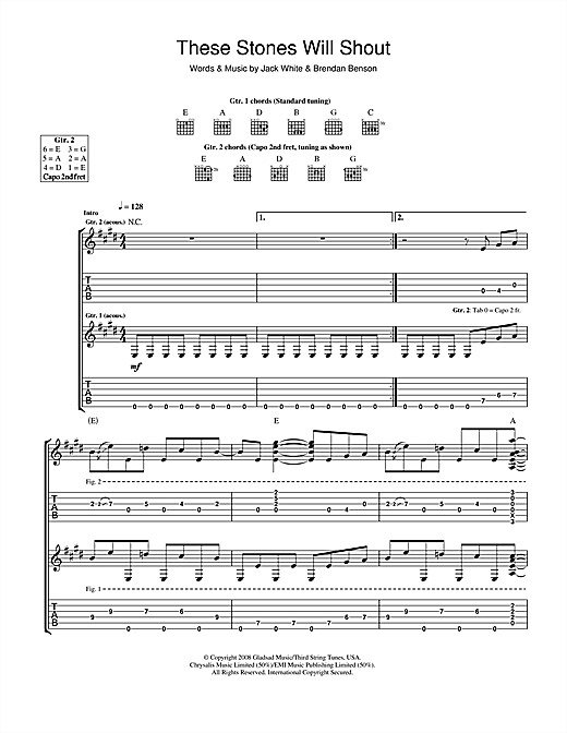 These Stones Will Shout (Guitar Tab)