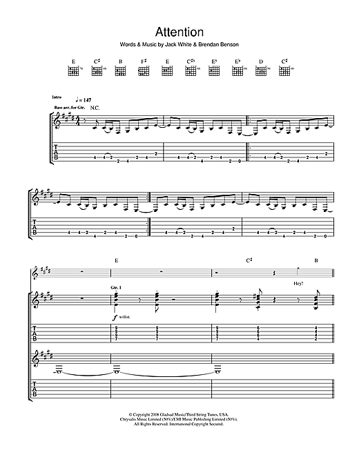 Attention Sheet Music