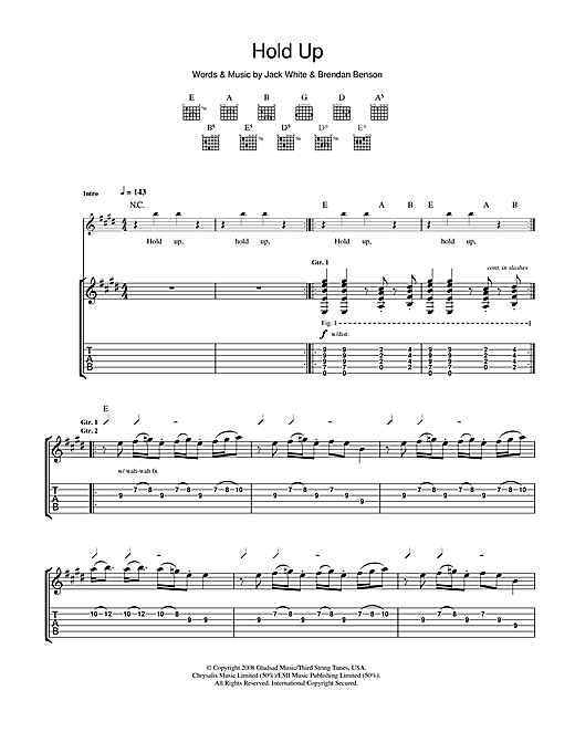 Hold Up Sheet Music