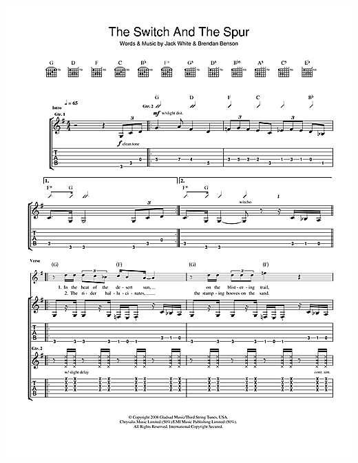 The Switch And The Spur Sheet Music