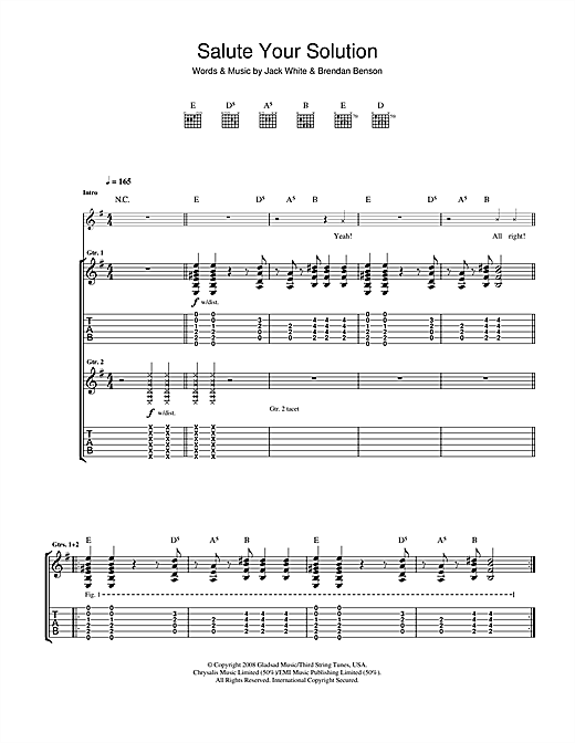 Salute Your Solution Sheet Music
