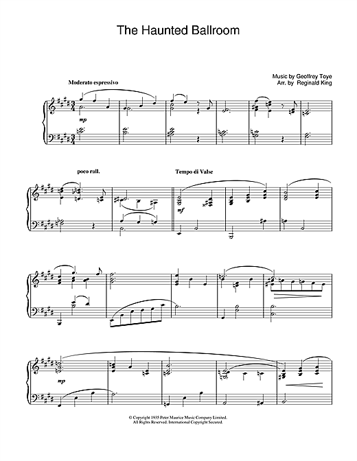 Haunted Ballroom Sheet Music