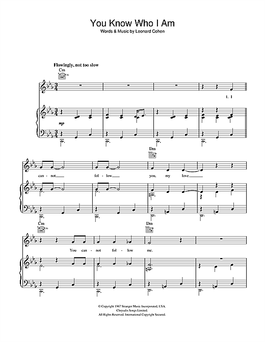 You Know Who I Am Sheet Music