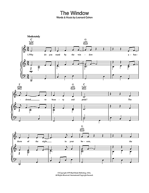 The Window Sheet Music