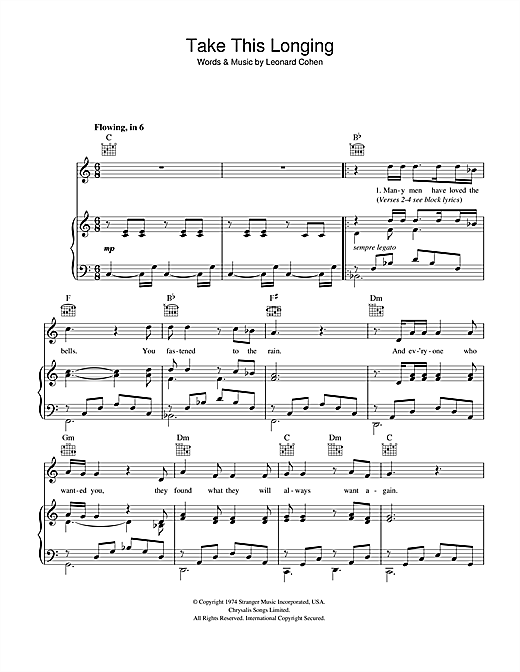 Take This Longing Sheet Music
