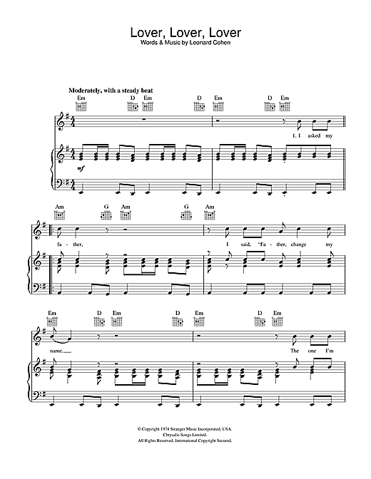 Lover Lover Lover Sheet Music
