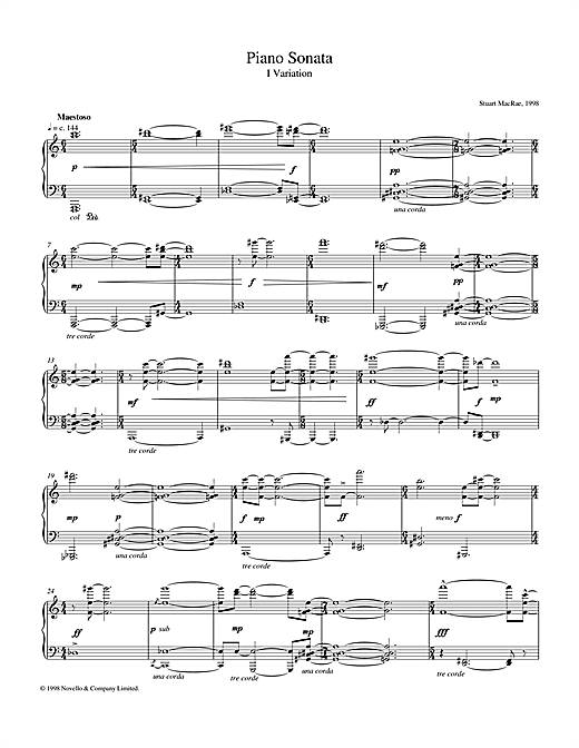 Piano Sonata, I Variation Sheet Music