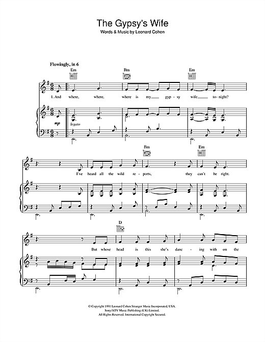 The Gypsy's Wife Sheet Music