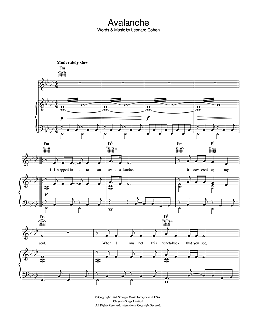 Avalanche Sheet Music