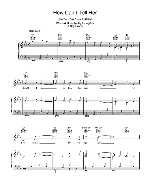 How Can I Tell Her (theme from Lucy Gallant) Sheet Music