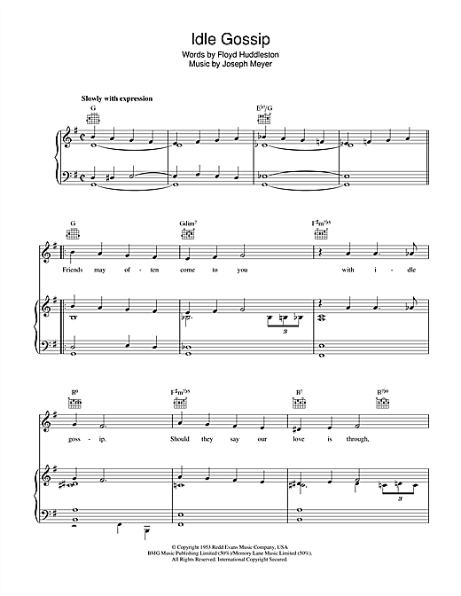 Idle Gossip Sheet Music