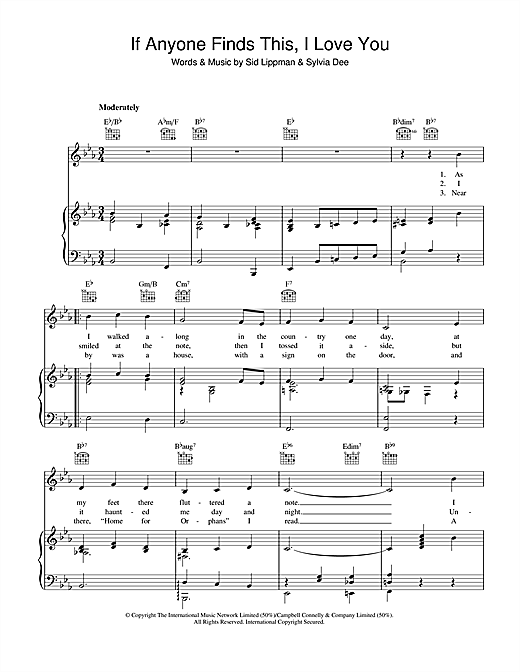 If Anyone Finds, This I Love You Sheet Music