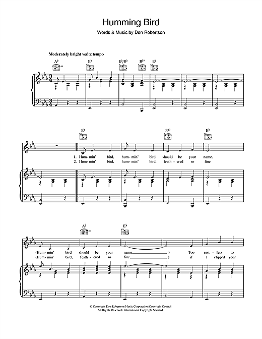 Humming Bird Sheet Music