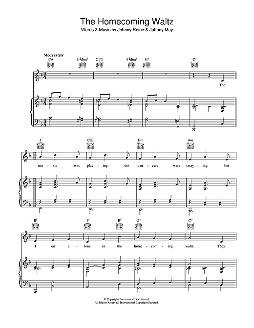 The Homecoming Waltz (Piano, Vocal & Guitar (Right-Hand Melody))