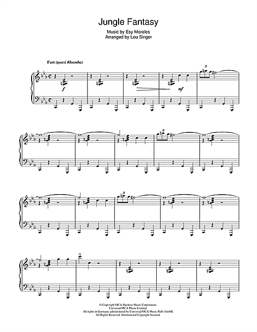 Jungle Fantasy Sheet Music