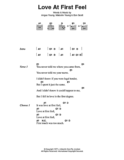 Love At First Feel Sheet Music